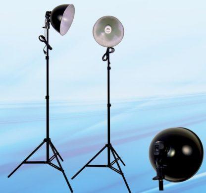 Fluorescent 600-Watt Continuous Lights 10' Reflector x 2