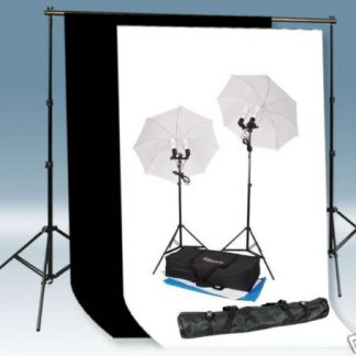 1200W Umbrella Light 10'x12' Black/White Backdrop Stand Kit