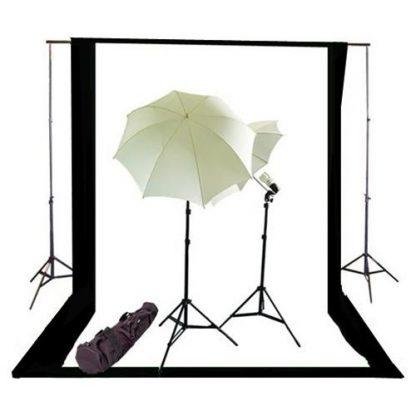 Umbrella light 2 backdrops kit