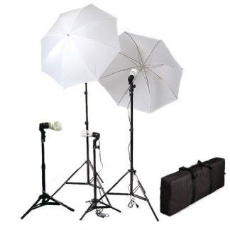 4 Light Photo Umbrella Lighting kit