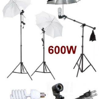 Studio Photo Umbrella Continuous Boom Stand Light Kit
