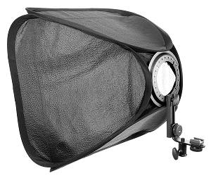 "24""x24"" Hotshoe Softbox For Speedlight Kit"