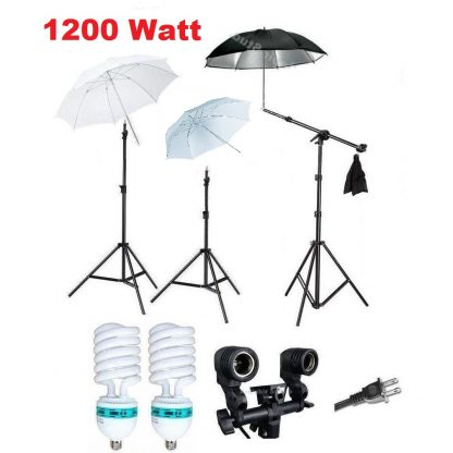 1200 W Umbrella Continuous Boom Stand Light Kit