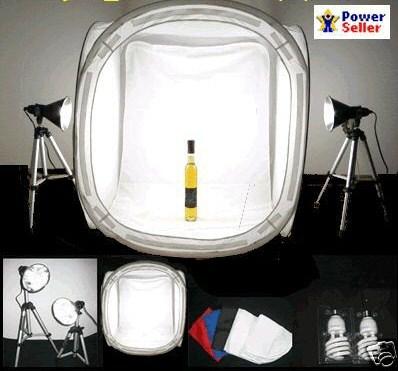 "Studio in a box Photo Studio kit 32"" tent 1000 watt output"