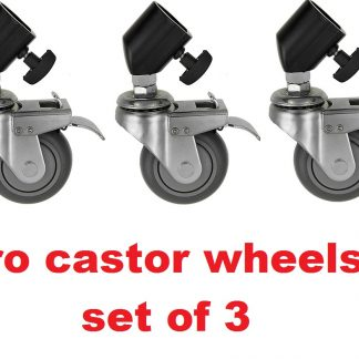 3 Professional Castor Wheels for Light Stands / Tripod