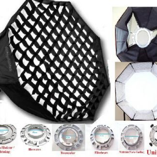 """38"""" Octagon Grids Soft box with speedring"""