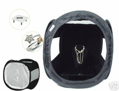 16''/40cm Black Jewellery Cube Photo Tent