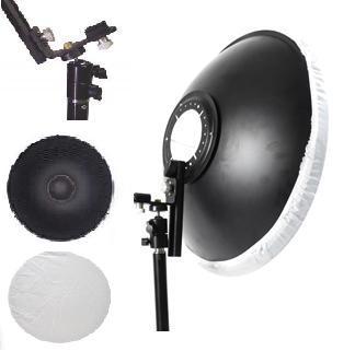 "16"" Honeycomb grid Beauty Dish & Mounting For Canon Nikon"