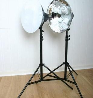 """1600W Cool Light 4, 16"""" Reflector Fluorescent Lights & diffusers"""