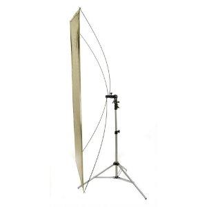 "Flat Panel Reflector 36""x72""+ Stand & Bracket (Silver/Gold)"