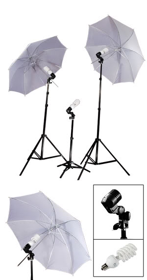 3 Light Photo Umbrella Lighting kit