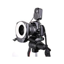 Pro 48-LED Macro Ring Light with Adapter 49mm - 62mm Diammable