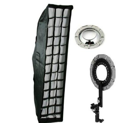 "9"" x 36"" Strip Grids Softbox with L bracket hotshoe mount"