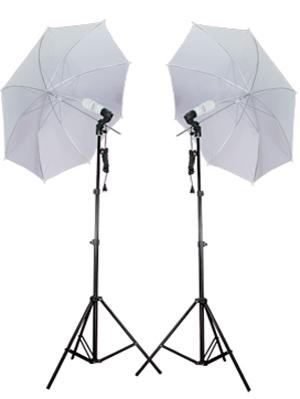 2 light umbrella lighting kit