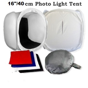 "PRO 40cm/16"" Studio Cube Photo Light Tent"