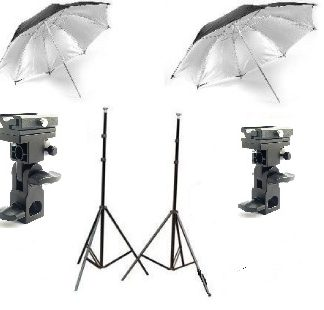 "Stroblist Studio Flash Mount 43"" Reflective Umbrella kit"