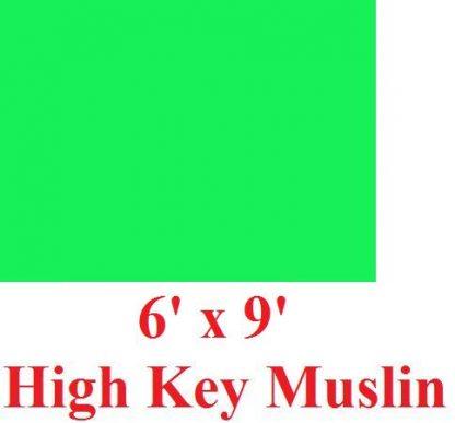 """NEW heavy duty Green 6'X9"""" High Key Muslin Backdrop"""