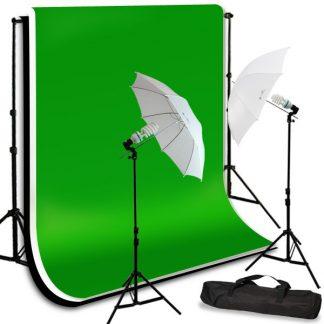 Umbrella light 3 backdrops kit