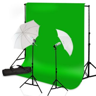 Umbrella Light Green Screen Kit
