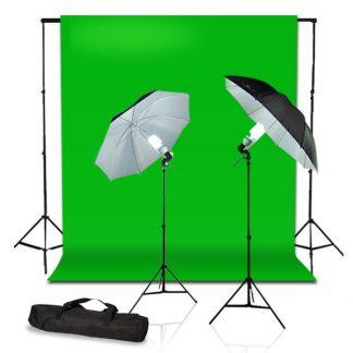 Reflective Umbrella Light Green Screen Kit