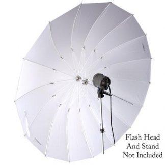 Pro 16-Rib 72in white Parabolic Umbrella