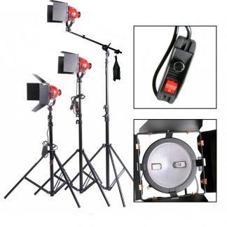 Focusable 3 Spot & Flood Light 2400 watt Constant boom Lights