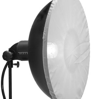 """22"""" 55cm Soft White Diffuser Sock for Beauty Dish"""