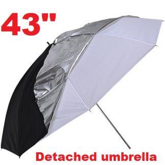 "43"" Shake-off Reflective Soft Photo Umbrella"