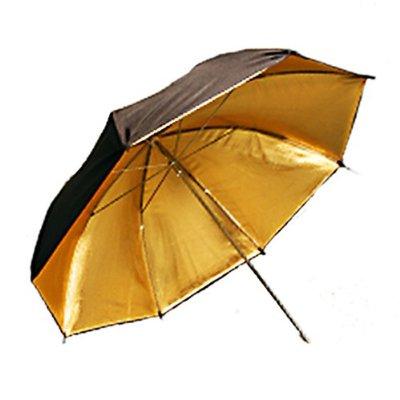 "33"" Black/Gold Photo reflective Umbrella"