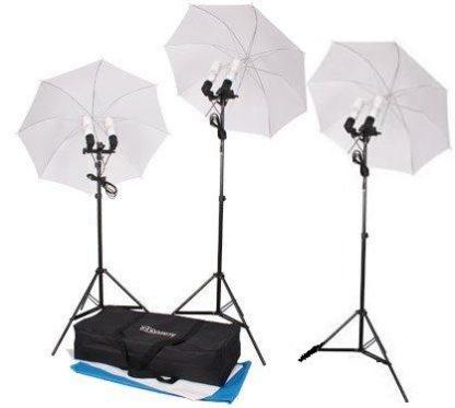 3-Head 1200W Umbrella lighting kit