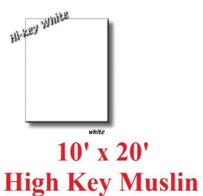 NEW Heavy duty High Key White Muslin 10'X20' Backdrop