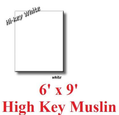 "NEW heavy duty White 6'X9"" High Key Muslin Backdrop"