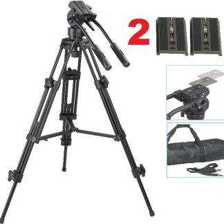 Pro Heavy Duty WT9901 Tripod with Fluid Pan Head & case