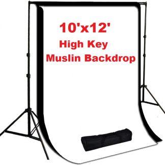 2 pcs 10'x12' High key Musin Backdrops Stand System kit