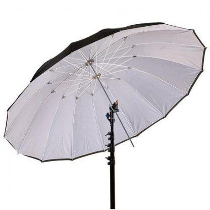 Pro 16-Rib 72in Black/white Parabolic Umbrella