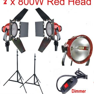 Focusable 2 Spot & Flood Light 1600 watt Constant Lights