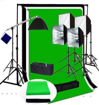 Pro 4-socket 5 light 4000 W output vidoe lighting  backdrop kit