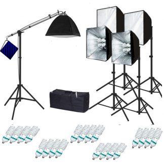 Pro 4 socket 5 lights 4000 W Continuous Light Softbox Fluorecent