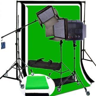 Pro 3x 1008 LED Bi color Video Dimmable LED Panel AC/DC wheels