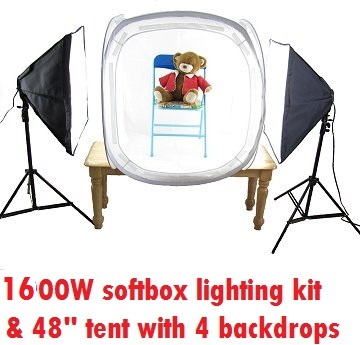 """1600W Continuous Lighting 48"""" tent kit"""
