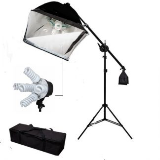 Pro 5-socket 1 light with boom continuous Lighting Boom Set