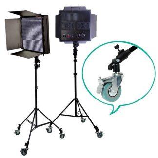 Pro 2x 1008 LED Bi color Video Dimmable LED Panel AC/DC Wheels
