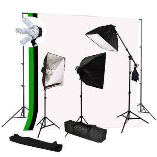 Pro 5-socket 3 lights 3000W output BWG Backdrop Boom Stand Kit