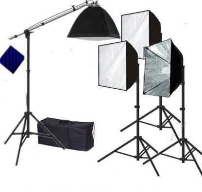Rapid softbox single socket 4 lights continuous lighting kit