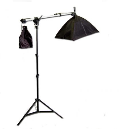 Rapid softbox single socket 1 light  with boom continuous light