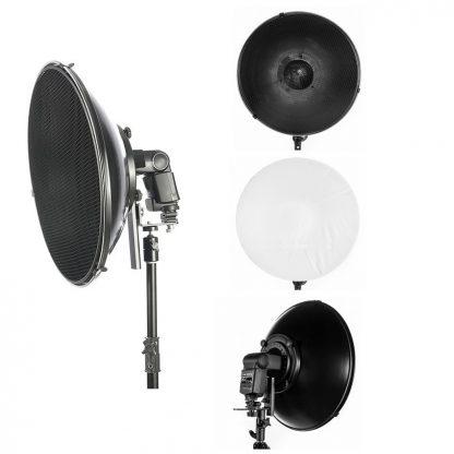 "22"" Honeycomb grid Beauty Dish & Mounting For Canon Nikon"