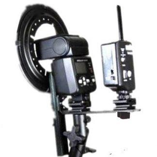 Strobist Speedlight Adapter L Bracket Ball Head doubleShoe Mount