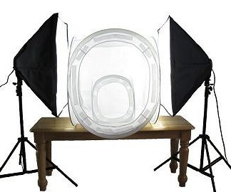 "1600W Lighting+48""&24"" Photo Light Tent Kit"