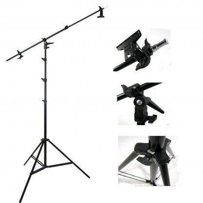 5.5ft multi fuction boom  & 9' Chrome Plated Steel Light Stand