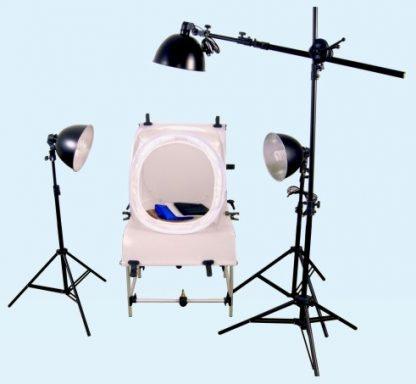 3-Light Fluorescent 900-Watt Product Shot Kit